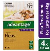 Advantage Fleas For Cats Over 4kg - 4 Pack-70