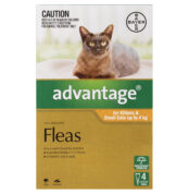 Advantage Fleas For Kittens & Small Cats Up To 4kg - 4 Pack-1